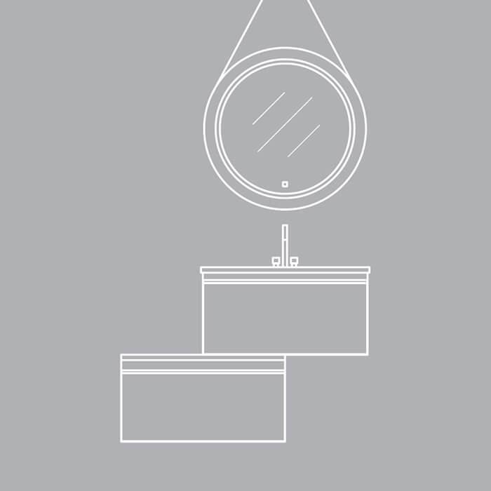 Colectia Albatros. Forme și texturi noi se reunesc într-un concept flexibil care se remarcă prin funcționalitate, create de un producator mobilier baie deosebit.