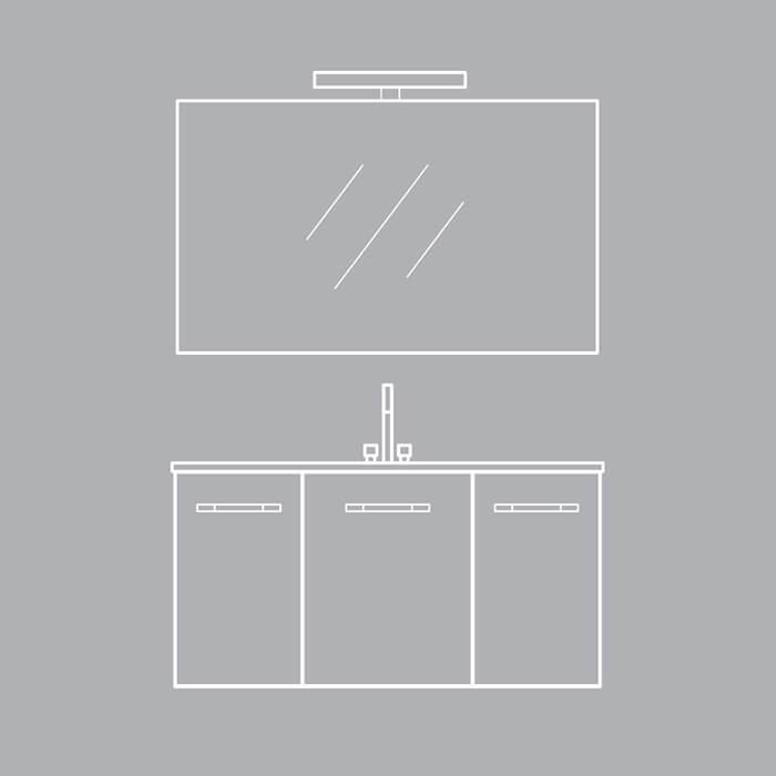 Colectia Corallo. Formele simple întâlnesc texturile de stejar pentru un mobilier de baie cu design mereu actual.