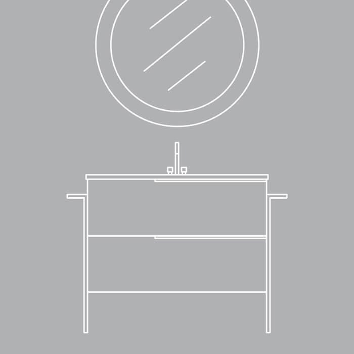 Colectia Oikos. O reinterpretare modernă a unui mobilier de baie clasic.